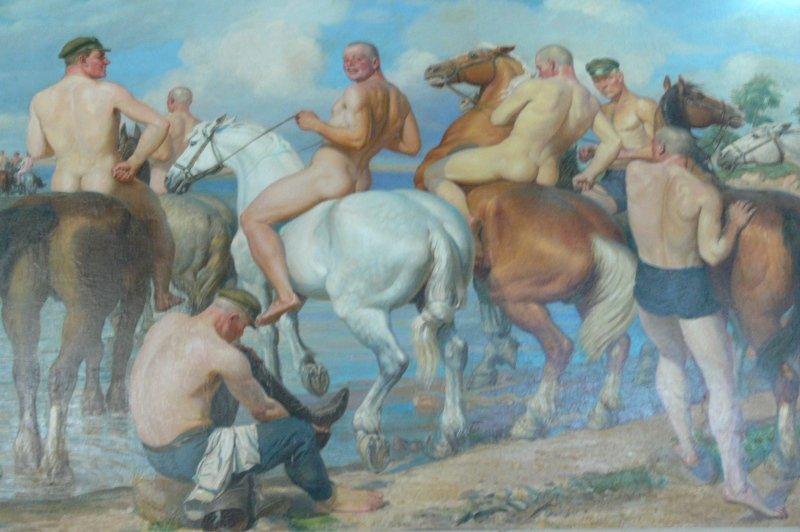 A. Treskin, Kotovtsi. Banho de cavalos.