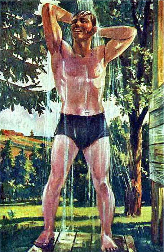 A. Deineka, Depois do trabalho, 1948.