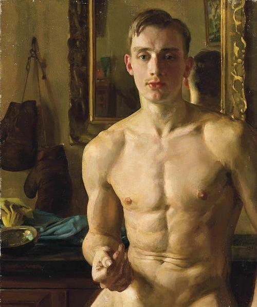 K. Somov, Boxeador, 1933.